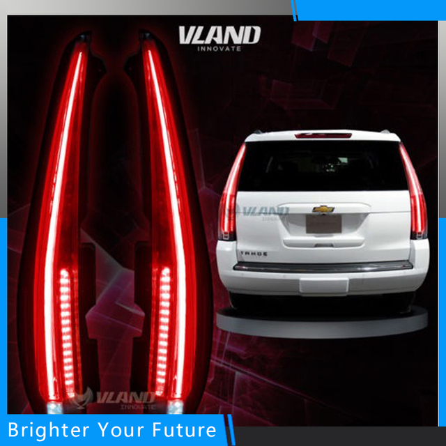 Taillights Rear Lamp Escalade Style For Chevrolet Suburban Tahoe 2017 Tail Lights Brake Light New