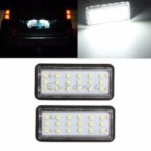 2X Error Free 18 LED License Plate Light for Toyota For FTT Lexus GX LX470 LX570 White C45