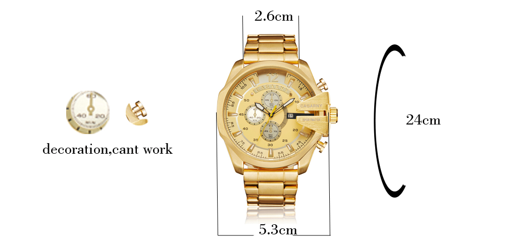 top luxury brand cagarny quartz watch for men gold steel band waterproof dz military Relogio Masculino mens watches drop shipping clock man cheap price (22)
