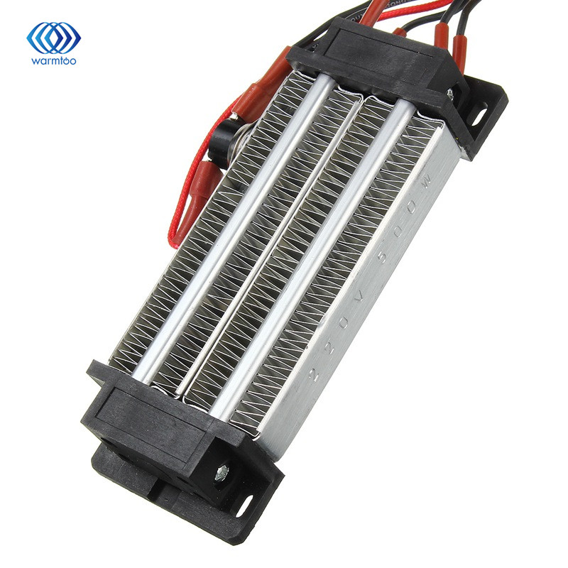 Ac 220v 500w Electric Ceramic Thermostatic Ptc Heating Element Heater Surface Insulation Constant Temperature Air Heating