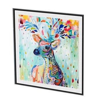 61x50 CM Deer Pieno Pittura Diamante Rotondo con il Nuovo Panno di Seta Molle della Tela di Canapa AB Trapani 5D Casa FAI DA TE decorazione