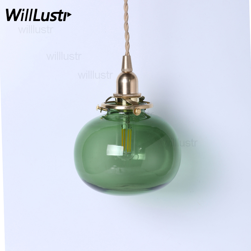 handmade mouth blown glass pendant lamp brass clear green amber white glass pumpkin suspension light noridc retro lamp fixture dale chihuly style art murano glass lamp multicolor handmade blown glass chandelier light fixture
