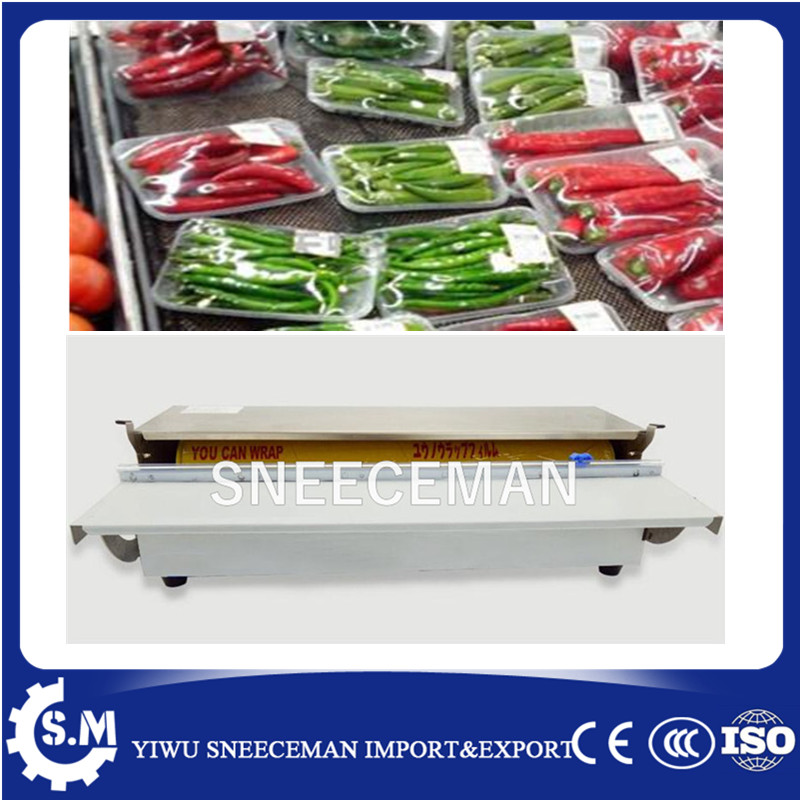hand cling film wapping machine for food packaging