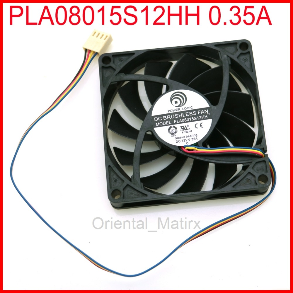 Free Shipping PLA08015S12HH 12V 0.35A 80*80*<font><b>15mm</b></font> Cooler Cooling <font><b>Fan</b></font> 4Pin 4Wire image
