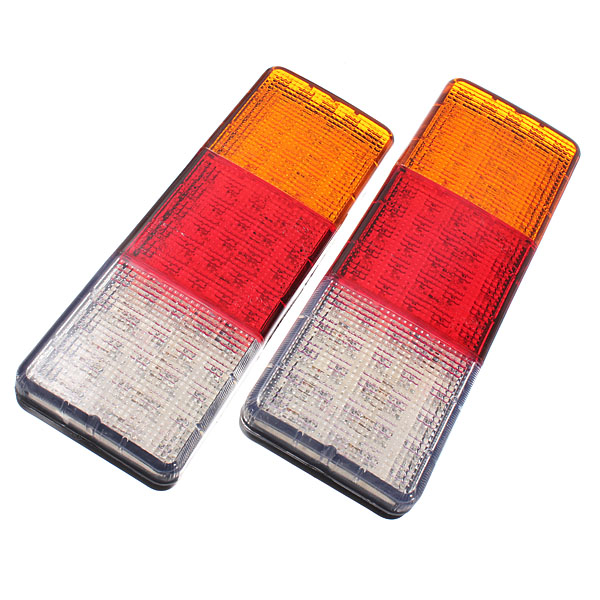 ФОТО Pair 12V 75 LED Rear Tail Indicator Stop Lights Taillight Truck Lamp E-Marked E4
