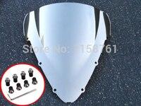 Chrome Racing Windscreen Windshield Case for 2001 2006 Honda CBR600 CBR 600 F4i 01 06