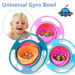 Bebê 360 giratório prato de alimentação bonito bebê giroscópio tigela universal à prova de derramamento comida-grau pp equilíbrio tigela recipiente de comida para bebê utensílios de mesa