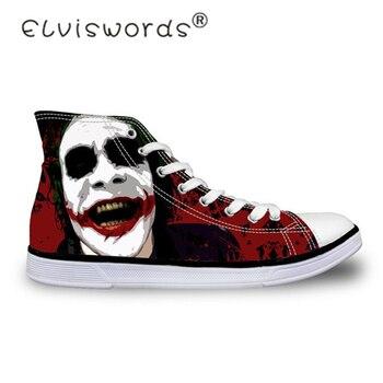 ELVISWORDS casuales de los hombres zapatos negros zapatos de Joker Lona de Zapatos de estudiante alta de adolescente planos adultos zapatillas