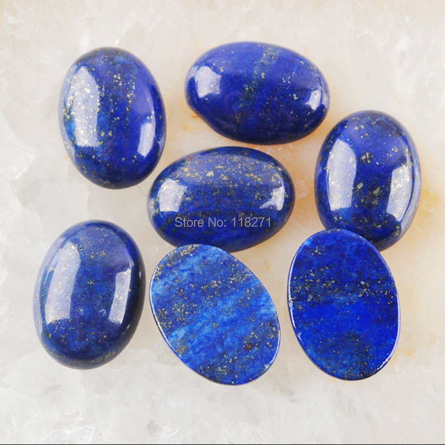 25 Inch Natural AA 13x18mm Dark Blue Lapis Lazuli Oval Gems Beads Necklace