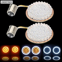 Amber 1157 LED Inserts Bullet Turn Signals Motorcycles Light Lamp For Harley Softail Touring Sportster Dyna FLSTF 2012-2017