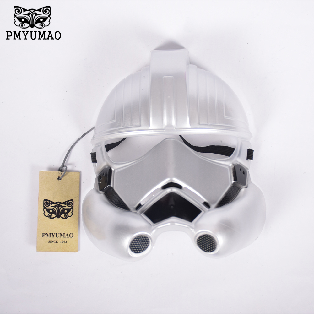 PMYUMAO Star Wars Mask Storm Clone Trooper Helmet Silver Warrior Empire Soldiers High Quality Party Games Mask Hot Sale