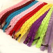 random color 10pcs/lot 25cm zippers lace nylon finish zipper for sewing wedding dress AA7001