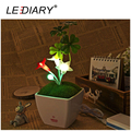 USB DC5V LED Five-angle Flower Night Light Touch Dimming LED Lamp Warm White+Green+Red Baby Bedside Lamp Decoration Desk Lamp
