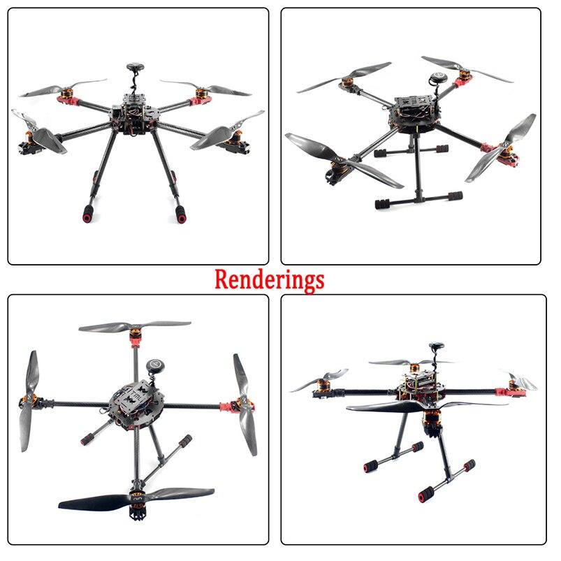 2.4GHz 4-Aixs Aircraft DIY RC Multicopter ARF 630mm Frame Kit Radiolink MINI PIX+GPS Brushless Motor ESC Altitude Hold