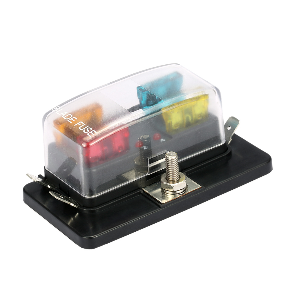 medium resolution of 4 way blade fuse box holder with led warning light kit for car boat marine trike 12v 24v