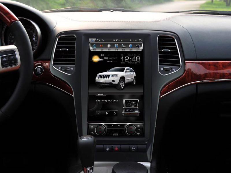12.1 Quadcore Voiture lecteur DVD 1280x800 Vertical Écran 16 gb ROM Stéréo GPS de Navigation DVD pour Jeep grand cherokee 2011-2012 année