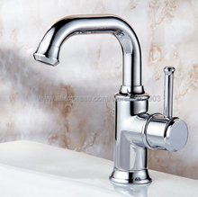 Chrome Brass Basin Faucets 360 Degree Swivel Single Handle Bathroom Faucets Hot and Cold Water Mixer Tap Knf330 стоимость