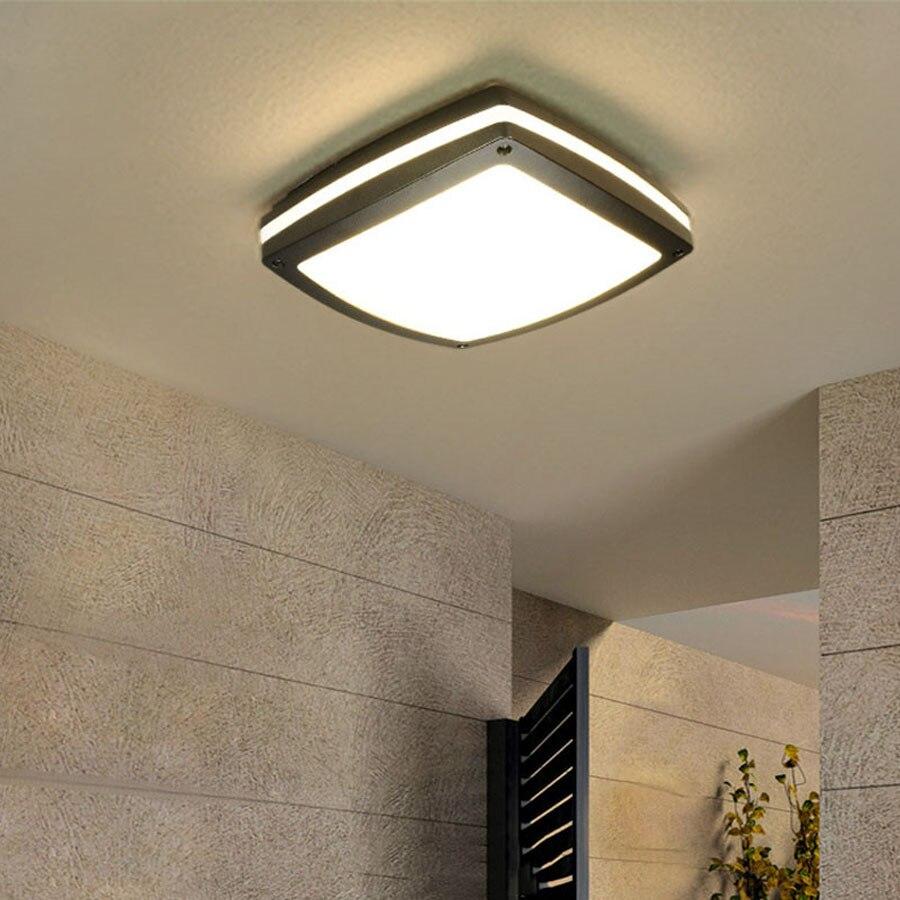 Thrisdar 30w modern waterproof led ceiling light outdoor - Waterproof bathroom ceiling lights ...