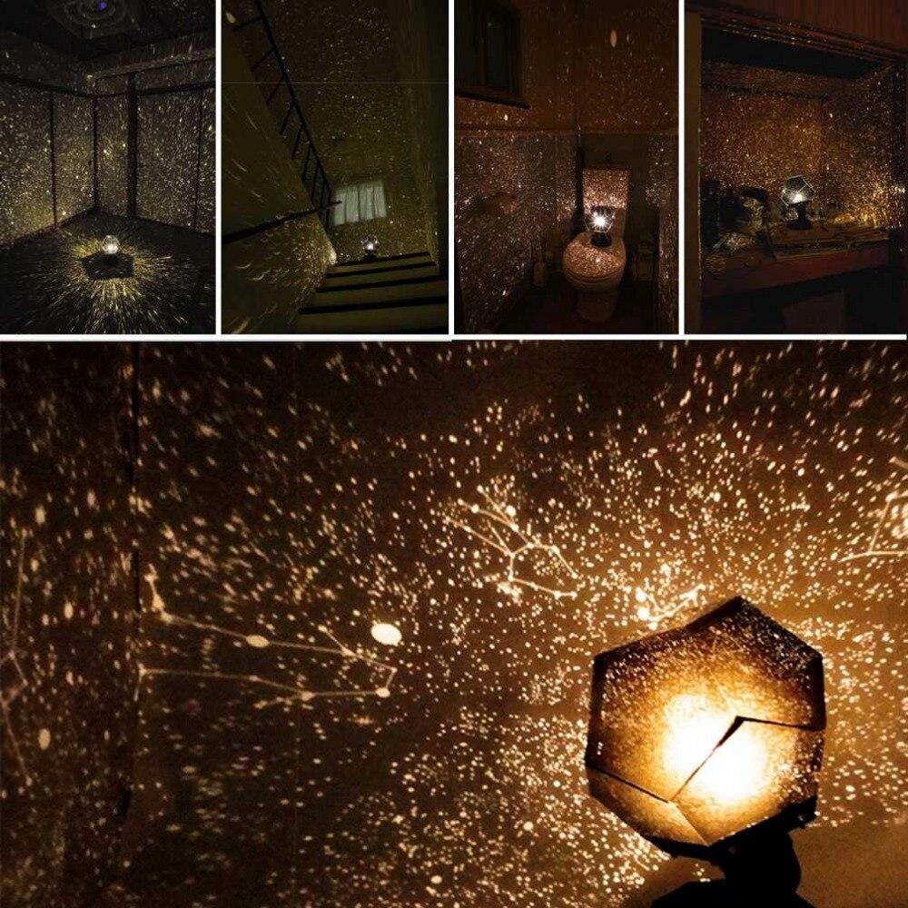 Celestial Star astro Sky proyección Cosmos Luces de noche proyector noche lámpara Estrella dormitorio romántico decoración Iluminación gadget