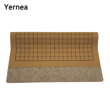 Yernea New Go Game Board High-quality Leather Go Board One Side Suede Leather 19 Line International Go Chess Weiqi line go go fc 1623