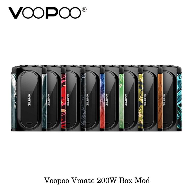 Nouvelles Cigarettes électroniques vape Mod Original VOOPOO Vmate Mod vape 200 W double batterie TC boîte Mod vaporisateur