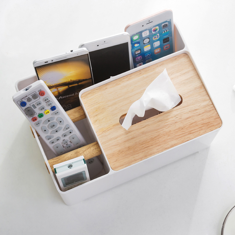050 Home multifunctional Paper towel box remote control receiver box storage box 26 2 18 2 12 7cm in Tissue Boxes from Home Garden