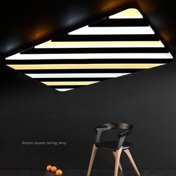 Nuevas lámparas de techo de rayas acrílicas LED rectangulares luces de sala de estar simple dormitorio estudio cuadrado luces de techo AC90-260V