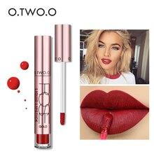 O.TWO.O 12Colors Lipstick Liquid Matte Moisturizer Long Lasting Lip Gloss Sexy R