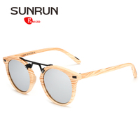 SUNRUN Polarized Sunglasses Men Women Brand Designer Vintage Glasses Round Sun Glasses For Women Polarized Unisex