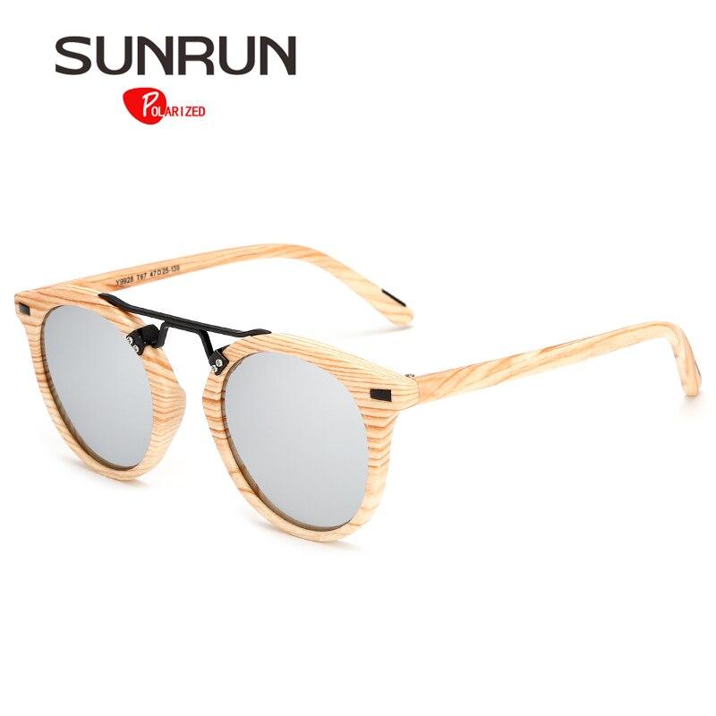 dec6ae45c82 SUNRUN Polarized Sunglasses Men Women Brand Designer Vintage Glasses Round  Sun glasses for Women Polarized unisex Y9928