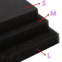 Activated Carbon Filtration Foam Pad Filter Aquarium Square Biochemical Filtration Sponge Sheet S/M/L hole C42