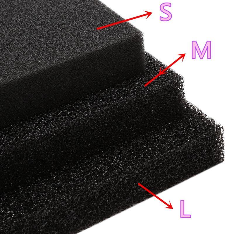 Nuovo Carbone Attivo Filtrazione Foam Pad Foglio di Spugna Filtro Acquario Piazza Filtrazione Biochimica S/M/L foro C42