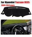 Cobre esteira do painel do carro para Hyundai Tucson IX35 2009-2014 Left hand drive dashmat pad tampa do traço auto dashboard acessórios