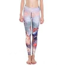 Sexy Women Slim Fairy Tale Yoga Pants Leggings Elastic Slim Sports Tights Quick drying Breathable Fitness