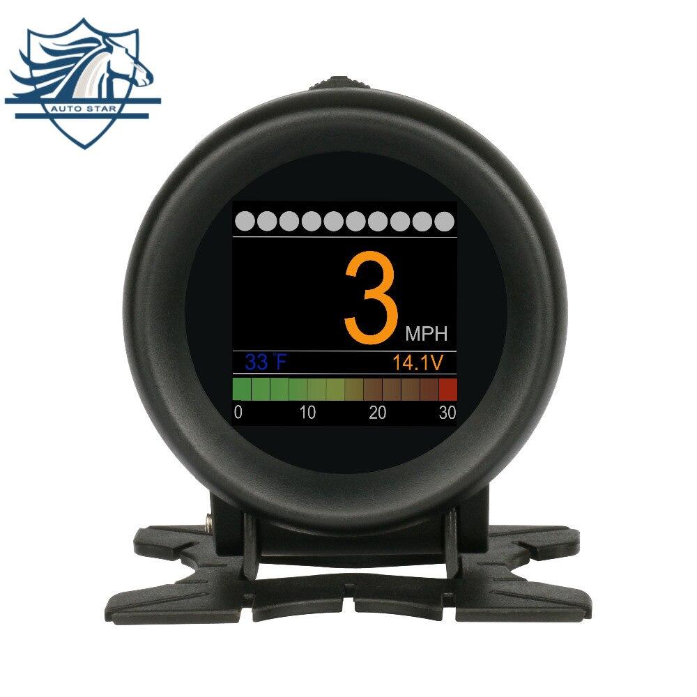 AUTOOL X60 Multi-function Turbo inlet Pressure Meter Battery Voltage Speed Alarm Oil Water Temp Gauge Fault Code Clean 12V OBD2