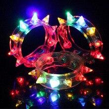 Multi Colors Night Glow Stick Flashing font b Bracelet b font Light Sticks Blinking Spike font