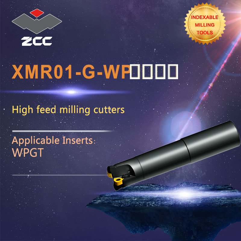 ZCC.CT high feed milling cutters XMR01 -G-WP high performance CNC lathe tools indexable milling tools popular cnc lathe machining center indexable square shoulder milling tools holder with high precision pe05 17b32 100 08