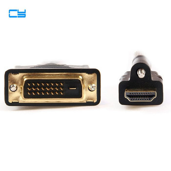цена на HDTV 1.4 HDMI to DVI Male to Male Audio Video Cable with Lock Screws Panel Mount Type 1m 1.5m 3ft 5ft DVI HDMI Cables