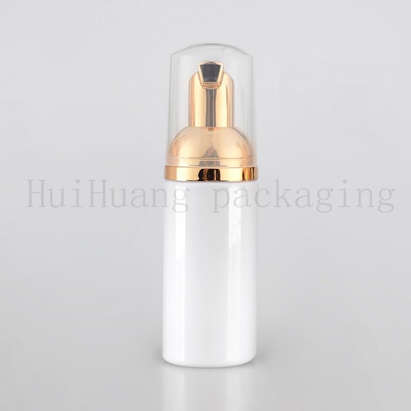 30pc 50ml Empty White Liquid Soap Foam Dispenser gold Pump Container Foaming Makeup Plastic Travel Bottle