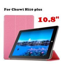 Caso shell Protector Original Para Chuwi Hi10 Plus 10.8 pulgadas Tablet PC Caso de Cuero de LA PU Caso de la Cubierta Del Tirón + Film