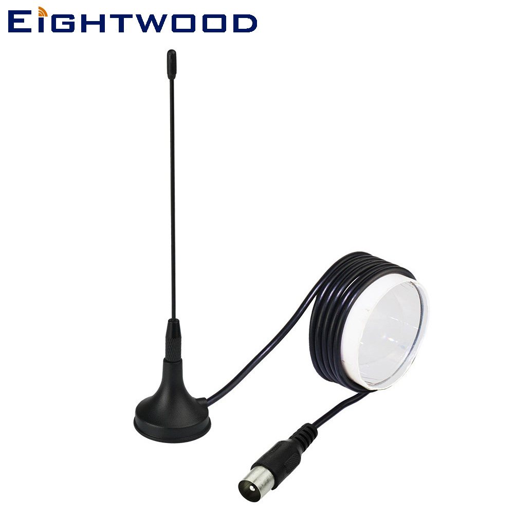 Eightwood Car Digital Freeview 5 dBi Antenna Aerial for DVB-T T2 TV RCA Plug DVB-T T2
