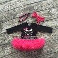 Meninas tutu romper infantil das meninas da criança do Dia Das Bruxas meninas outfits partido das meninas romper com colar e tiara