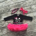 Niñas de Halloween tutu romper girls infant toddler girls outfits chicas mameluco del partido con el collar y diadema