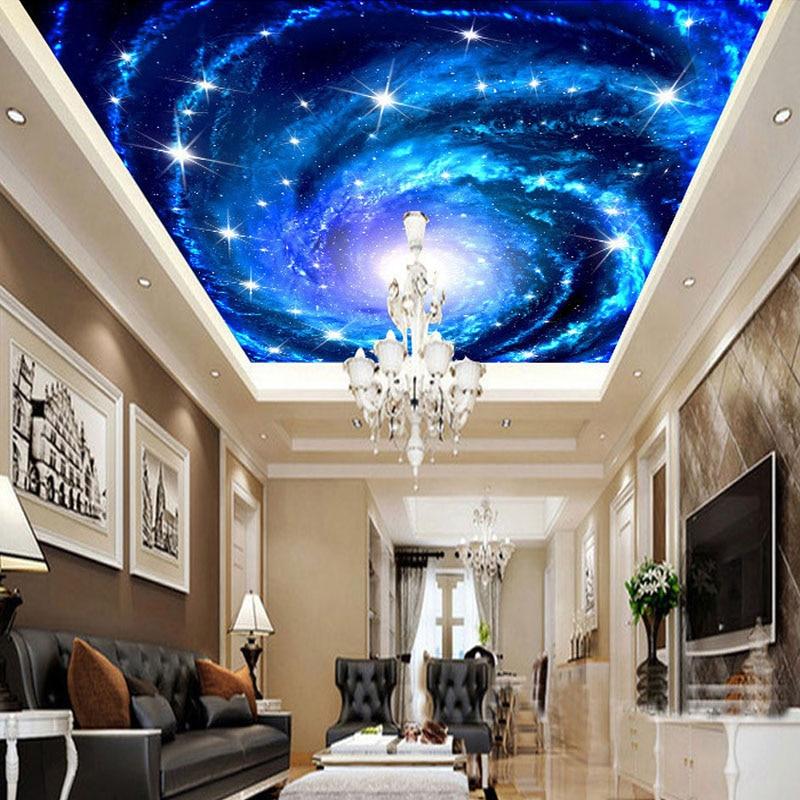 Galaxy Nebula Photo Ceiling Wall Mural For Living Room Kids\' Room ...