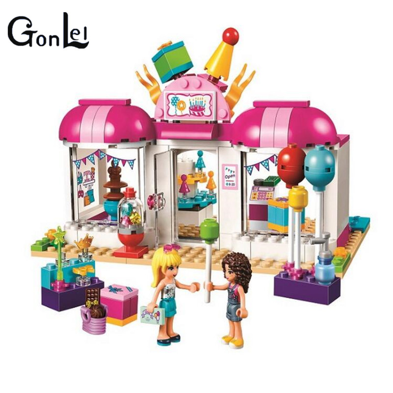 GonLeI Bela 10557 Girls friends 181pcs amusement park games Model Building blocks Bricks Compatible Toy Gift with 41127 gonlei 10566 series volkswagen beetle model sets building kit blocks bricks toy compatible with