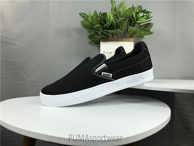 Original Puma Smash Vulc Slip on K Men s and Women s Sneakers Sports Badminton  Shoes Size35. 893acac9a