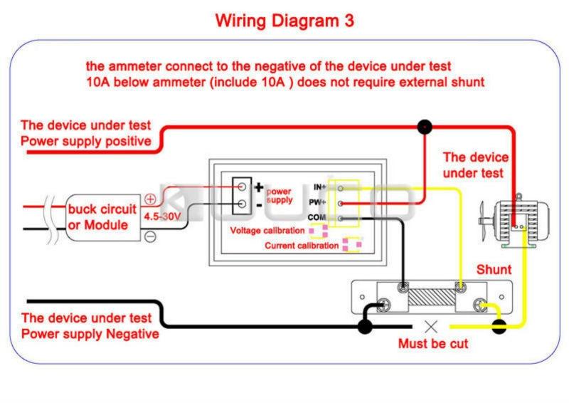 2in1 Ammeter Voltmeter DC 0 100V 50A Voltage Current Meter Dual Display Panel Meter DC 12V aliexpress com buy 2in1 ammeter voltmeter dc 0~100v 50a voltage defi rpm gauge wiring diagram at reclaimingppi.co