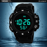 men's watch Military Sport Men LED Electronic Wrist Watch Fashion Digital Watches Men Outdoor Waterproof Life relogio masculino