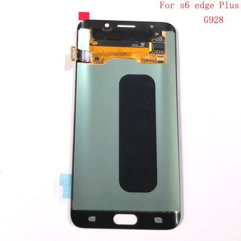 Amoled For Samsung Galaxy S6 Edge Plus SM-G928F G928F G928 Lcd Screen+display+Touch Glass Frame Assembly Replacement little Burn