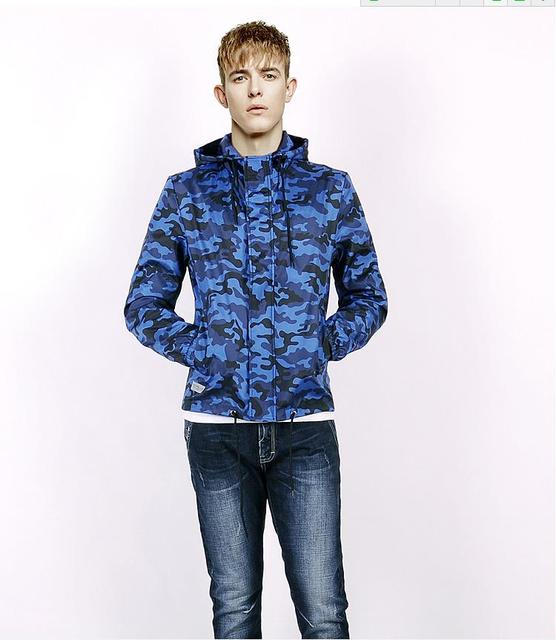 80a479f6a51e9 2016 latest spring jacket Slim thin section men's casual hooded jacket Camo  jacket coat Men influx of men-GK121A